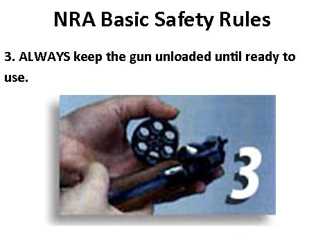 NRA Safety Rule 3